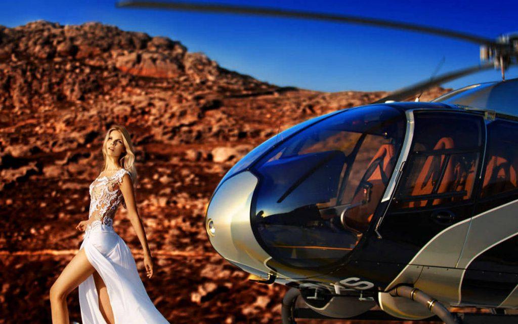 Mykonos Wedding Helicopter Service