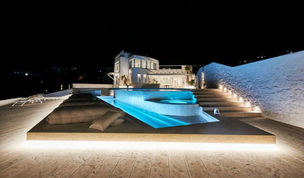 Mykonos Villa Casa Prinsessa By Night
