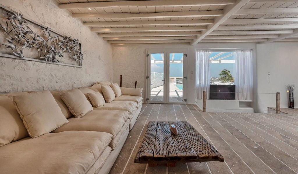 Mykonos Villa Casa Princessa Living Room