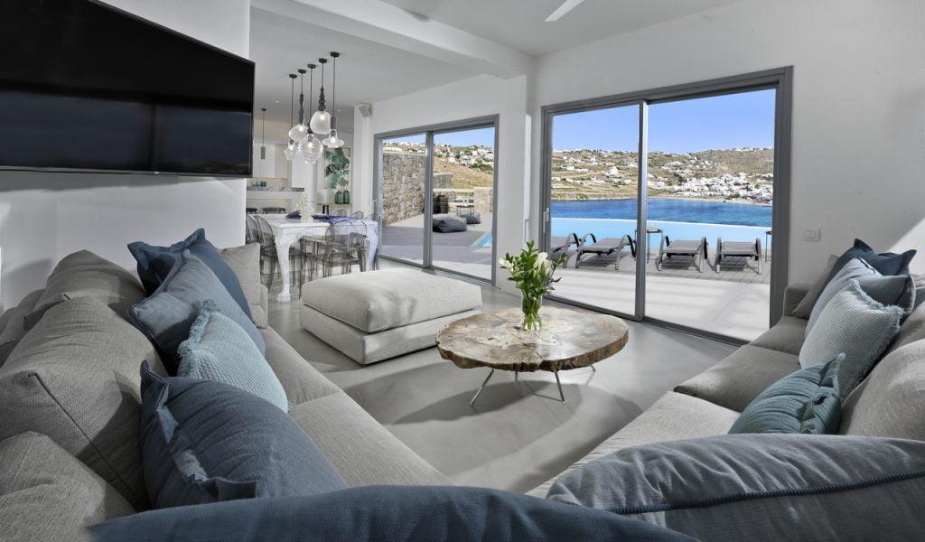 Mykonos Villa Dorita Living Room