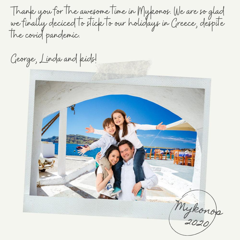postcard from mykonos