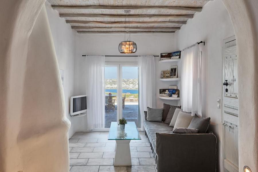 Mykonos Syni Villa Livingroom