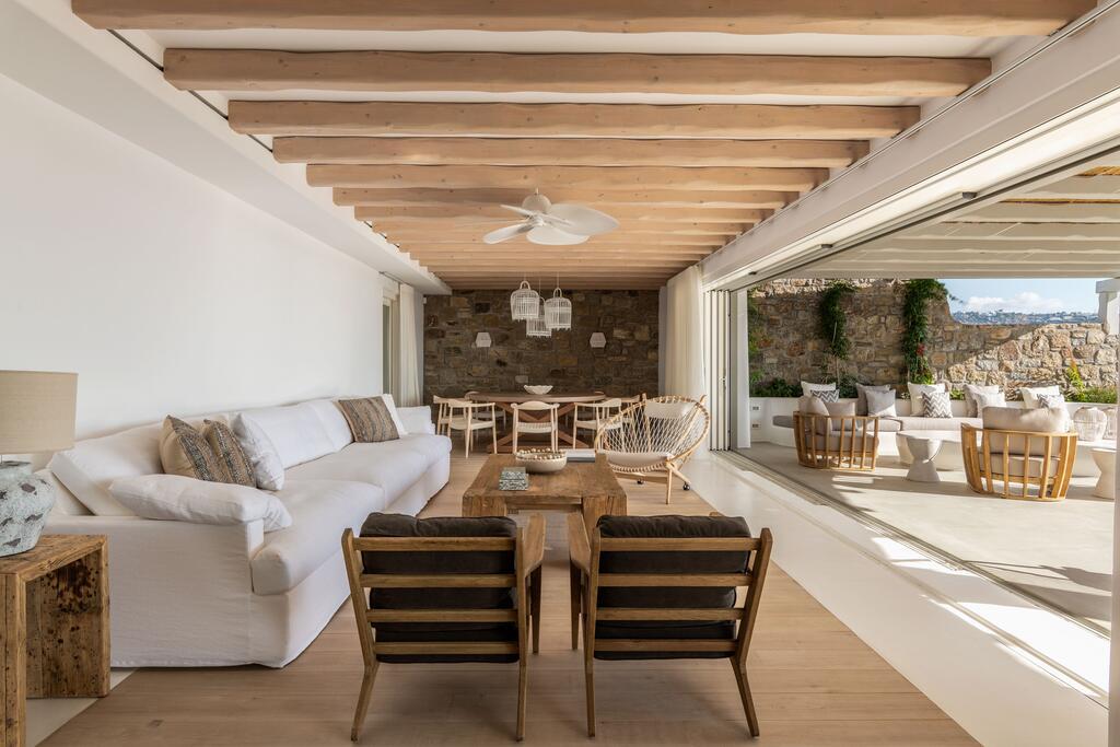 Villa Martin in Mykonos outdoor Livingroom