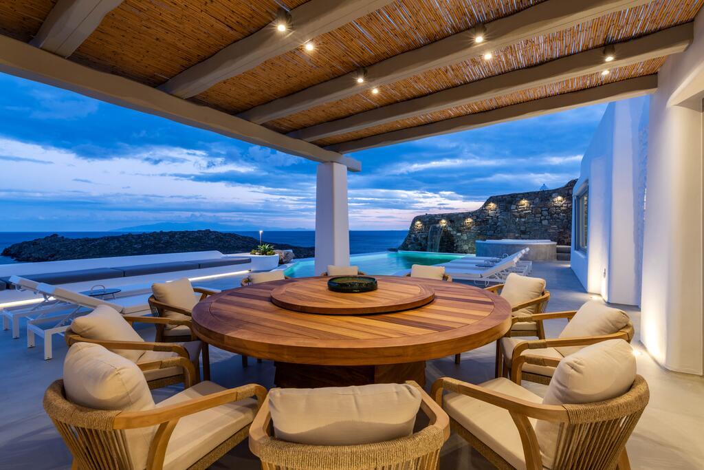 Villa Martin In Mykonos Dinner By The Pool