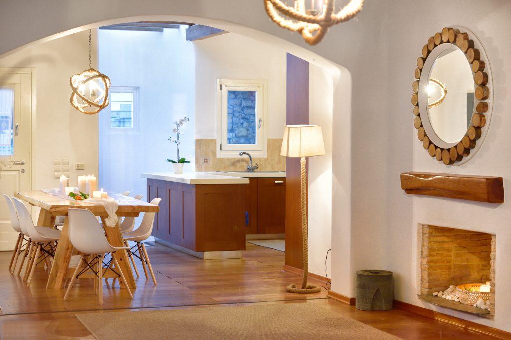 Villa Sergio Azzaro in Mykonos Livingroom