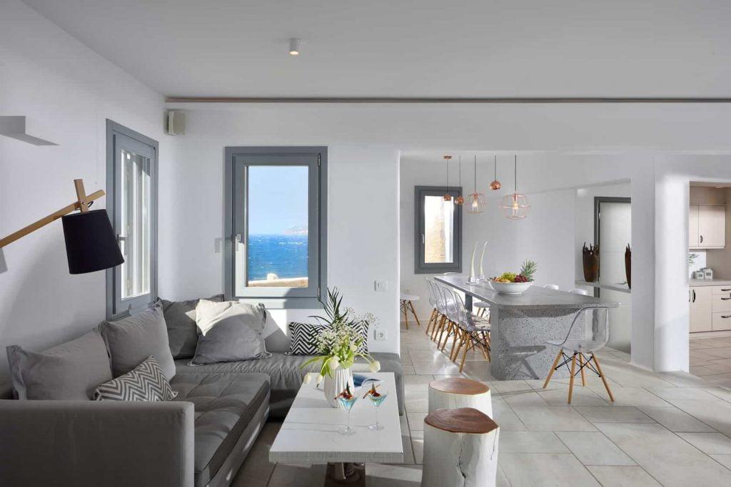 Villa Celestyal In Mykonos, Livingroom